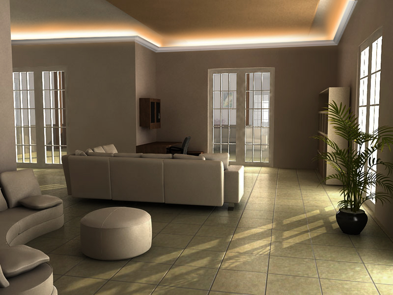Galeria sufit w pod wietlanych o wietlenie sufitowe led for Oswietlenie w salonie