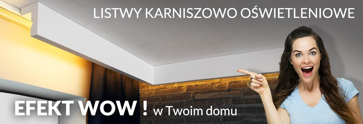 Listwy karniszowe LED