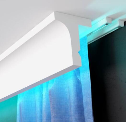 Listwy do zabudowy karnisza LED